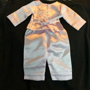 AG pink satin 2 piece PJs  for Ruthie doll